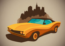 Retro car. Royalty Free Stock Image