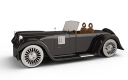 Retro car. On white background. 3d rendered image. my own design Royalty Free Stock Photo