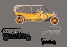 Retro car. Vintage historical transport Stock Images