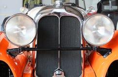 Retro car. Headlight of retro car close-up Stock Image