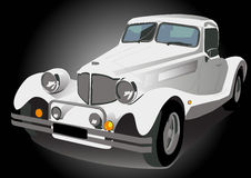 Retro car. Vector illustration white vintage retro car isolated Stock Photos