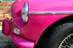 Retro Car. Pink vintage car Royalty Free Stock Image