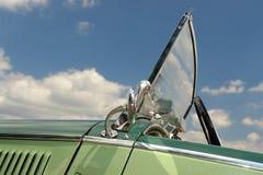 Retro car. Closeup of green retro car Royalty Free Stock Photo