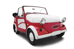 Retro car. Red vintage car isolated on white Royalty Free Stock Photography