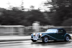 Retro car. On the street Royalty Free Stock Photography