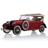 Retro car. Vector illustration of retro car isolated on white background Stock Photo