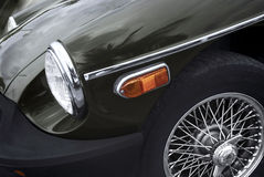 Retro car - American classics. Close up of Retro car - American classics Stock Photo