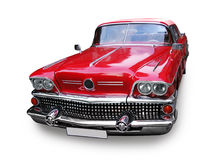 Retro car - American vintage classics. Retro car - American classics from 1950-s, 1960-s, isolated, path royalty free stock photo
