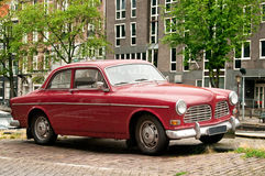 Retro Car in Amsterdam street Royalty Free Stock Images