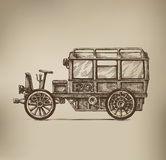 Retro Car. Authors illustration in vector Royalty Free Stock Photo