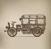 Retro Car. Authors illustration in vector Stock Illustration