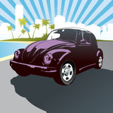 Retro car background vector Stock Photo