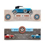 Retro Car Banners Royalty Free Stock Image