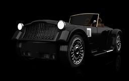 Retro car on black. Background. 3d rendered image. my own design Royalty Free Stock Images