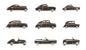 Retro Car Black Icons Collection Royalty Free Stock Photo