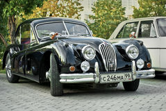 Retro Car Black Jaguar XK120 Classic Stock Photography