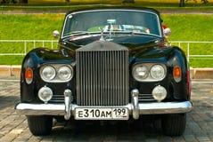 Retro Car Black Rolls-Royce Stock Images