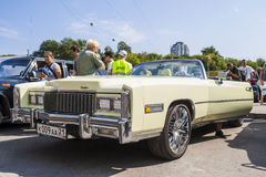 Retro car Cadillac on avtoarena in Cheboksary Stock Photography