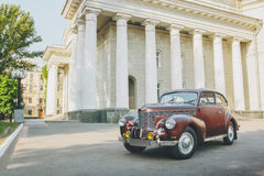 Retro car in the sity at daytime summer opel 1930s 1940s Stock Image