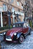 Retro car. The retro car in the city, Armenia royalty free stock images