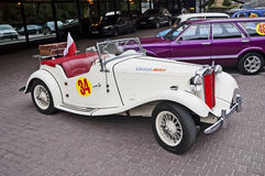 Retro car close-up Royalty Free Stock Image