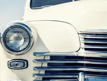Retro car. Close-up photo of retro car headlights Royalty Free Stock Image