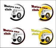 Retro car club banner set Stock Photos