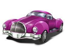Retro car. In color lilac Royalty Free Stock Photos