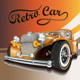 Retro car. Car on a colored background Royalty Free Stock Image