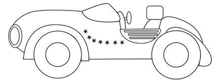 Retro car coloring page Stock Photos