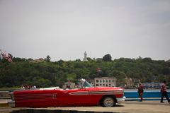 Retro car in Cuba original style. Retro car in Cuba, Havana city life.rnSummer time in Havana stock image