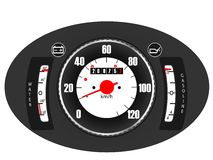 Retro car dashboard Stock Images
