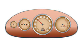 Retro car dashboard Royalty Free Stock Photography