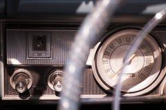 Retro car dashboard Royalty Free Stock Photos
