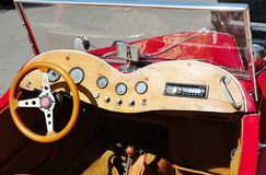 Retro car dashboard Royalty Free Stock Images