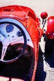Retro car detail stock photo