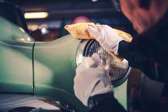 Retro Car Detailing Stock Images