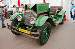 Retro car on display in pavilion in Lvov Stock Images