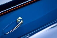 Retro car door handle Stock Photography
