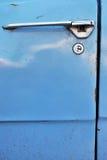 Retro car door lock Royalty Free Stock Image