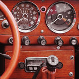 Retro Car fragment Stock Images