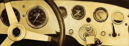 Retro Car fragment (styled retro) Stock Photos