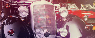 Retro Car fragment (styled vintage) Royalty Free Stock Photos