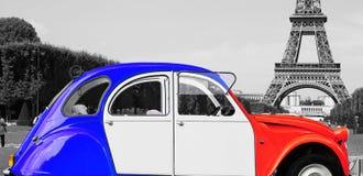 Retro car france color Royalty Free Stock Photos