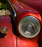 Retro Car Headlight Stock Photo