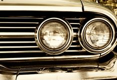 retro car headlights Stock Image
