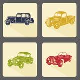 Retro car icon set Royalty Free Stock Image