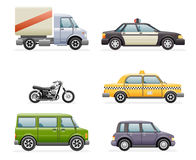 Retro Car Icons Set Realistic Design Vector Illustration Royalty Free Stock Photography
