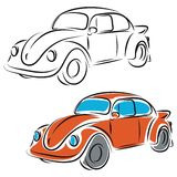 Retro Car Illustration. Illustration of a retro car Royalty Free Stock Images