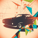 Retro car illustration. Royalty Free Stock Photography